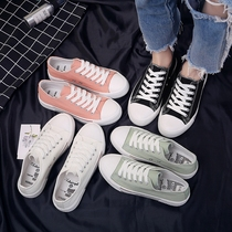 2018 spring new black canvas shoes female students Korean version of the wild Harajuku ulzzang flat shoes shoes