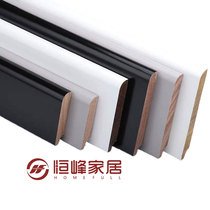 Solid wood baseboard fan longan flat baseboard white gray black European wood foot line simple