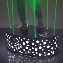 Barre de point laser en acier inoxydable KTV Night beauty DS Table De Danse plate-forme de point mobile à LED