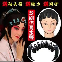 Opera headdress female flower full set of photography head flower hair piece sideburns flower sideburns theater Phoenix Crown Hair Hair Show