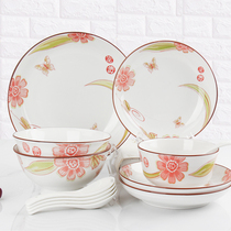 Tableware Set Bowl Plate Home combination ceramic cutlery plate set bowl set restaurant special bowl home.