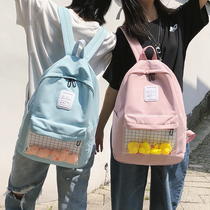 2019 new girls ins wind bag female campus wind Korean Ulzzang high school backpack college students shoulder bag