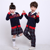 Primary and secondary school students singing costumes poetry reading uniforms uniforms British spring and autumn childrens costumes kindergarten uniforms