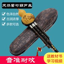 Gourd rope beginner c down B primary school children adult professional play entry Yunnan natural purple bamboo