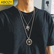 Neck jewelry neckband Male Male Hip-Hop boys necklace Korean version of the personality wave hip-hop retro hip-hop chain men