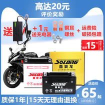 Xin ao long motorcycle battery 12v7a battery universal 125 scooter 5A curved beam car 9a help Ghost fire Zongshen