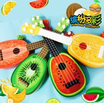 Cartoon fruit Ukriri four-string mini guitar it can play musical instrument puzzle childrens toy violin