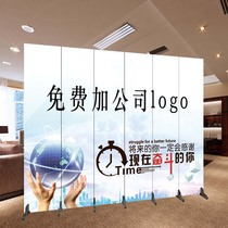 Custom LOGO screen partition living room porch hotel office folding mobile decoration background wall folding screen