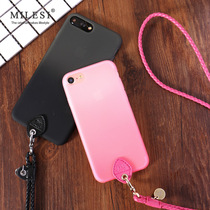 iphone7plus mobile phone shell lanyard 5 5 inch Apple 7s 4 7 inch couple mobile phone sets hanging neck silicone drop