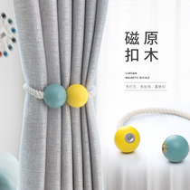 Water Ling spinning Korean rural pastoral wind tied curtain strap simple curtain buckle creative curtain clip a pair of equipment