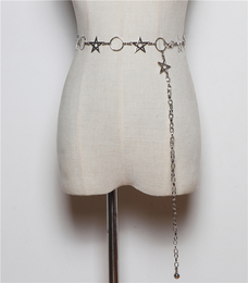 Simple dress stylishly decorated women's fine Korean version of the sweater sexy belt hundred women with waist chain belt chain