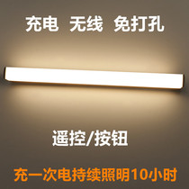 Wireless remote control mirror headlight charging hole-free LED can stick magnetically bring your own switch mirror light makeup lamp.
