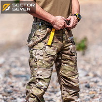 Seventh District IX2 Hawkeye MC camouflage pants tactical trousers autumn military uniforms for training pants male special forces multi bag overalls