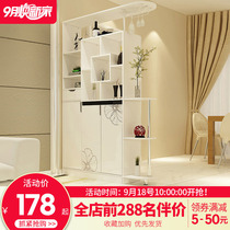 Entrance cabinet door partition shoe cabinet simple modern living room hall cabinet double-sided screen decoration shelf wine cabinet