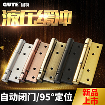 Solid special invisible door hinge hydraulic buffer automatic door closer door spring hinge damping hinge a price