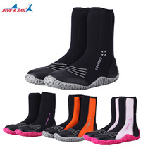 5MM high tied diving shoes men and women rafting surfing 3MM diving boots non-slip warm river shoes snorkeling flippers equipment