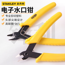 Stanley water pliers 6-inch electronic pliers plastic model cut ultra-thin Bevel pliers stripping multi-function