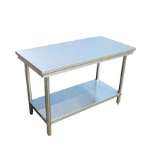 Stainless steel table console double kitchen kitchen table packing table charge table home countertops