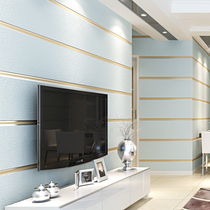 Simple bright non-woven marble wallpaper bedroom living room TV background wall 3d stereo horizontal striped wallpaper