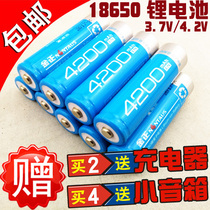 Jinzheng 4200mAh mAh rechargeable 18650 lithium battery for Singing Machine loudspeaker watching machine light flashlight