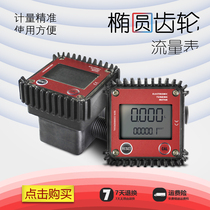 Plastic Electronic metering Table Elliptical gear transmission Error ≤0.5% (small flow meter two interface