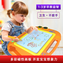 Childrens drawing board magnetic writing board baby baby baby toy 1-3 years old 2 young children color oversized graffiti board.