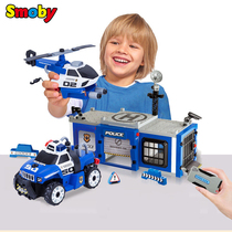 French smoby nut combination disassembling toys Boy 4-year-old male bao removable police police car aircraft suit