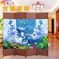 Art cartoon screen partition bedroom room cover wall simple home student childrens room collapsible save space.