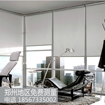 Venetian blind hole-free blackout Office Office advertising logo curtain living room bathroom lift roller shutter