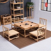 Japanese-style tatami small coffee table simple window small square table balcony mini tea table chair bamboo vine Zen low table.