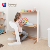 Australia Boori Oslo childrens solid wood desk can lift learning desk situ childrens writing desk bookcase