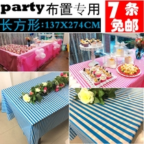 Disposable tablecloth picnic cloth disposable cartoon cute childrens birthday party outdoor table home printing