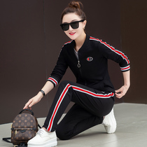 Large size womens spring and Autumn 2018 new fashion fat mm three-piece loose fat casual sportswear suit female