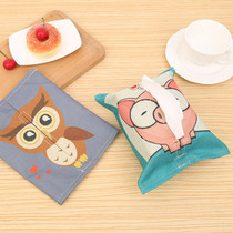 Cloth tissue sets of cute cartoon paper box cotton and linen paper towel bag paper towel box