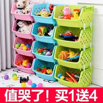 Display stand childrens toy bookshelf combo storage rack multi-storey basket balcony clothing spices portable collection simple