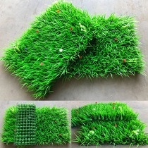 Simulation lawn plant wall indoor green plant background wall fake flower plastic green plant encryption balcony decoration artificial turf