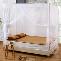 Old-fashioned mosquito net stainless steel with bracket household 1 8m bed single double encryption thickening 1 5m2 m