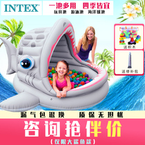 intex childrens ocean ball pool fence home indoor 1 year old baby inflatable toys ball game Wave ball pool