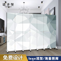 Nordic screen partition living room simple folding mobile simple modern bedroom room shelter office economy