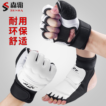 Taekwondo hand foot gloves foot set children adult protective gear training competition boxing Sanda ankle half finger