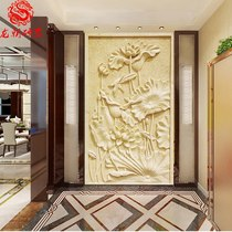 Sandstone sculpture Background wall Relief European villa exterior wall decoration sculpture Corridor Xuan Guan mural Sand carving stone