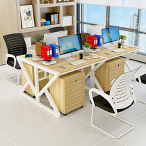 Four Employees office computer desk combination office work simple home small desk simple desk