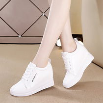 Small white Shoe woman 2019 spring in the increase of pointed white shoes increased 33 womens shoe 34 yards show thin code hundred breathable