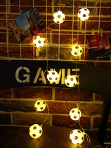 2018 Russia World Cup bar theme decoration ktv mall creative layout Football small string led lights