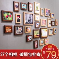 Simple and modern photo wall decorations restaurant bedroom wall creative photo frame wall wall combination Nordic photo wall
