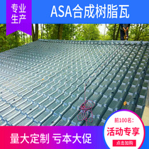 Antique tile Chinese green tile plastic resin tile thickened building roof one pvc synthetic glass tile manufacturers