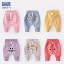 Baby pants spring and autumn baby girl toddler big ass pants autumn high waist belly trousers male baby autumn big pp pants
