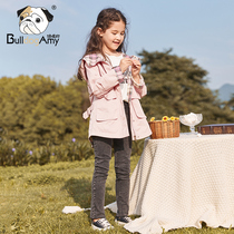 Girls coat spring and autumn glutton dog 2019 New incense children's clothing large Children Korean children's hooded windbreaker