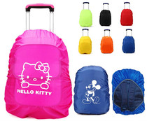 Students shoulder bag rain cover girl trolley case rain protection cover wear box set waterproof trolley case raincoat