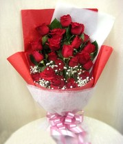 Adaptation of 21 red roses Lishui flower delivery cloud and Qingyuan Songyang Qingtian Suichang jingning flower shop to send